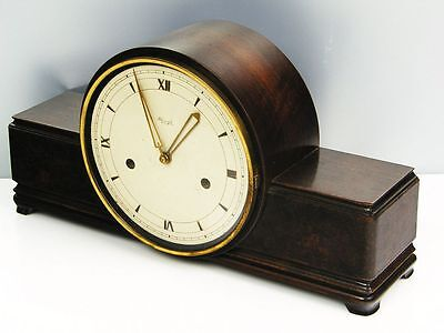 Pure Beautiful Pure  Art Deco  Kienzle   Chiming Mantel Clock  With Rose Wood