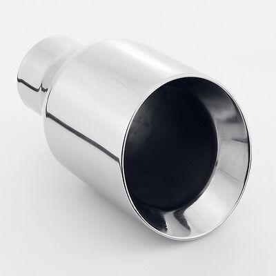 "2.25"" inlet 4"" outlet 7"" length Dual Wall Slant 304 Stainless Steel Exhaust Tip"