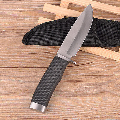 New Buck Straight Blade Survival Camping Hunting  Rescue Tool Fixed Knife BH