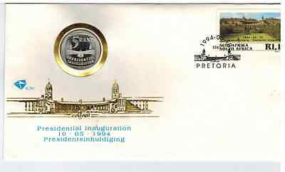 SOUTH AFRICA 94' MANDELA PRESIDENTIAL INAUGURATION FDC 6.3c PROOF R5 WITH STEPS