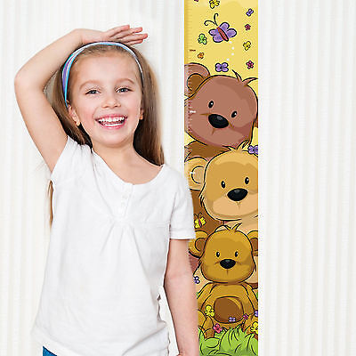 Teddy Bear Children's Height Chart with FREE metallic stickers