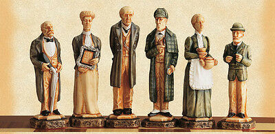 The Sherlock Holmes Hand Painted Chess Pieces