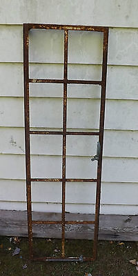 Antique Iron Stained Glass Window Frame Vintage Coffee Table Top