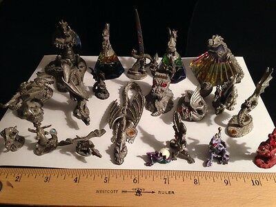 20 Spoontique Pewter Collectable Dragons