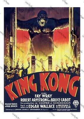Wall Poster Vintage Art Film Cult print King Kong The 8th Wonder of The World