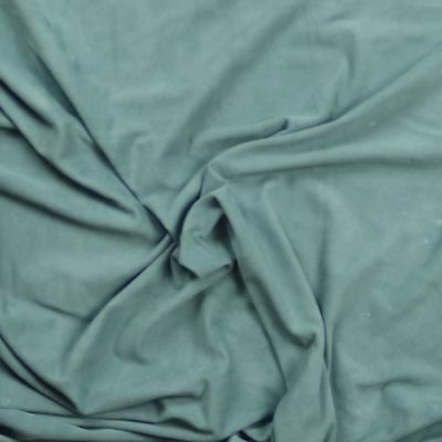 Silky soft suede goat skin with velvet nap Soft sage BARKERS HIDE & LEATHER H337