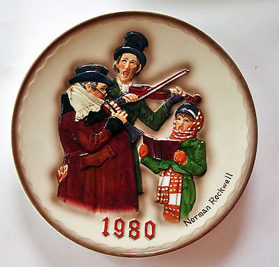 NORMAN ROCKWELL First Limited Edition Christmas Plate 1980 Christmas Trio