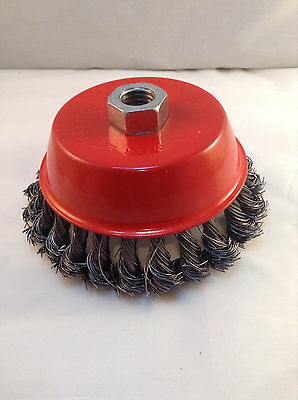 "Heavy Duty 5"" Knotted/Twisted Wire Cup Brush"