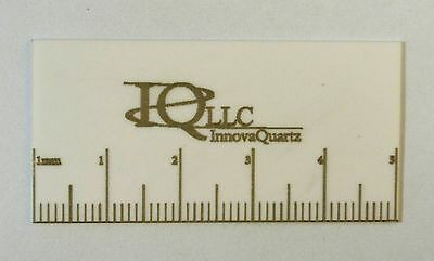 """Laser ruled (metric) cleaving stone: one ceramic wafer 1"""" by 2"""""""