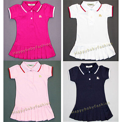 New Baby Girl Polo Dress Toddler Clothes Size:000,00,0,1,2 Gift 100% cotton