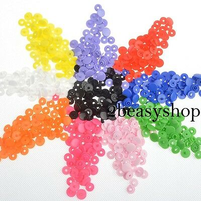 150 T3 KAM Plastic Resin Snap Fastener/Popper Press Stud Cloth Diapers Button AU