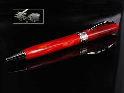 Visconti Rembrandt Variegated Red Resin Ballpoint Pen