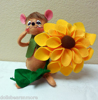 """NWT! Annalee 6"""" SUNFLOWER MOUSE 2014 #350614 From 2014 Fall Décor!"""