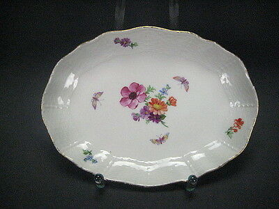 KPM Berlin Altozier Small Bowl With Flower Butterfly And Golden Edge
