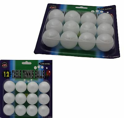 10 x  White SPORTS TABLE TENNIS BALLS PING PONG RACKETS PACK SET