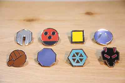 Pokemon Cartoon Anime All 8 Johto Gym Badges from Generation Gen 2 for Cosplay