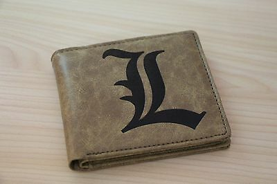 New Anime Death Note L Logo Wallet Purse