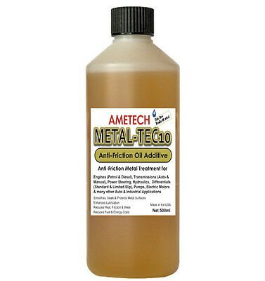 New 500ml AMETECH Metal-Tec10 Anti-Friction Transmission Gear Diff Oil Additive
