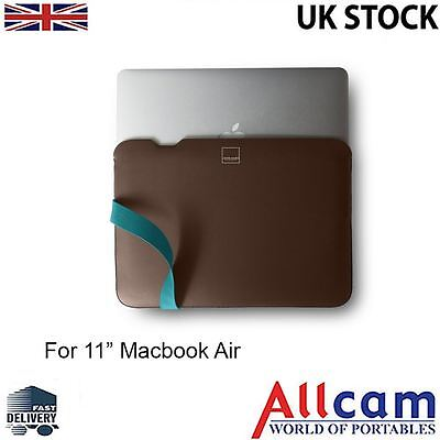 "Acme Made Laptop Case / The Skinny Sleeve for 11"" MacBook Air in Java / Teal"