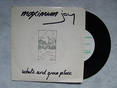 "MAXIMUM JOY""WHITE AND GREEN PLACE /BUILDING... disco 45 GIRI, Y RECORDS 1982"""
