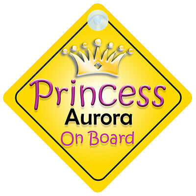Princess Aurora On Board Girl Car Sign Child/Baby Gift/Present 002