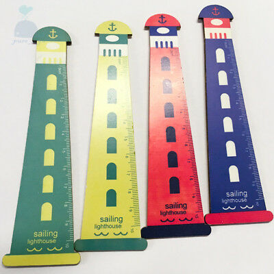 Sailing Lighthouse Beacon Style Good Quality 4 Inch 10cm Wooden Ruler 1 Piece