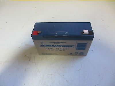 Power Sonic PS-6100F1 Rechargeable Battery 6V 12A (Lot of 2)