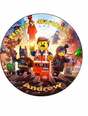 19cm Round Lego Movie Edible ICING Cake Topper
