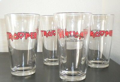 Extremely rare Iron Maiden The Trooper Beer Glass (set of 4)  NEW!