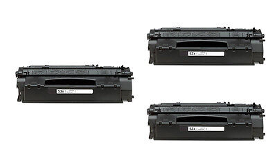 3PK Q7553X 53X High Yield Toner For HP LaserJet P2014 P2015 M2727 MFP M272nf