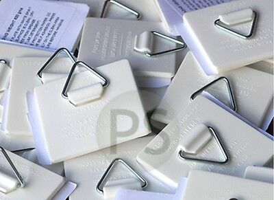 Self Adhesive Plate Picture Hanger / Hook/ Sticky Pads x 25