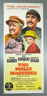 The Molly Maguires - Sean Connery - Original Australian Daybill Movie Poster