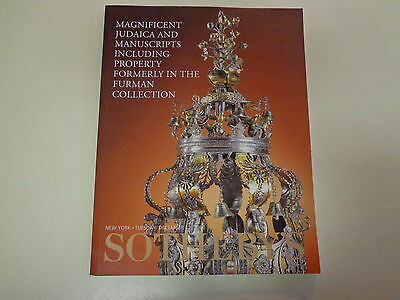 Sotheby's Furman Collection Judaica Auction Catalog December 2000 New York