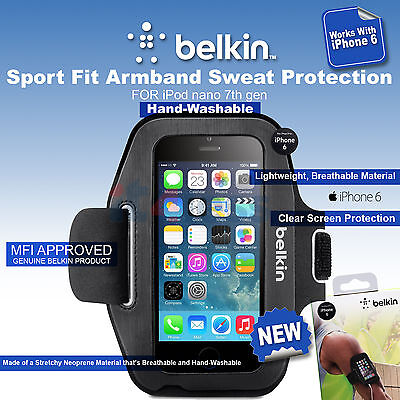 Belkin Sport Fit Armband for iPhone 6 and 6s Black F8W500BTC00 Sweat Protection