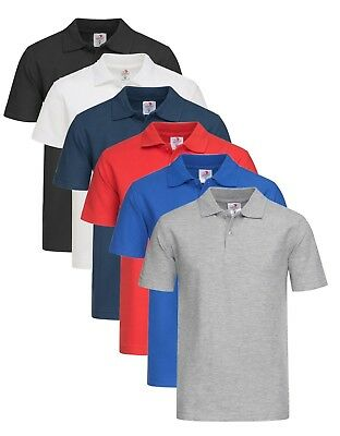 Stedman Childrens Kids Boys Girls Childs Plain Cotton Piqué Polo Shirt