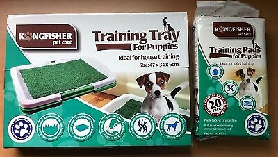 Dog Puppy House Training Tray Odour Resistant Artificial Grass Easy Clean Strong