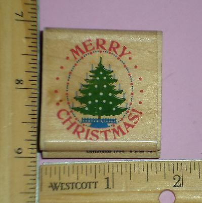 MERRY CHRISTMAS TREE rubber stamp RUBBER STAMPEDE low shipping!