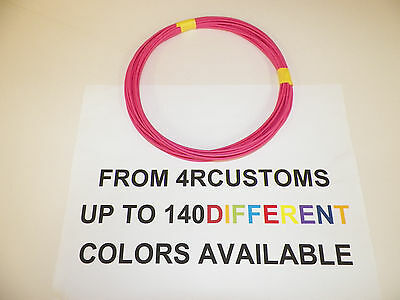 25 FEET EACH COLOR = 50FT WIRE BLACK AND RED 22 GAUGE TXL AUTOMOTIVE HIGH TEMP