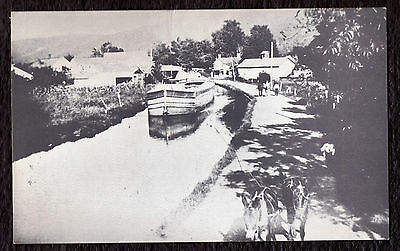 'D & H Canal South of Wurtsboro' real photo reprint PC published mid-1900s