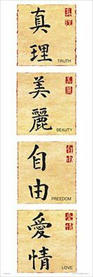 Chinese Writing - Letters, Türposter / XXL Poster ca. 158 x 53 cm
