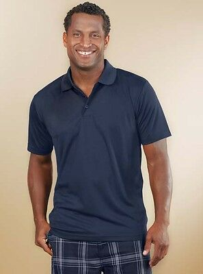 12  Men Tall Sizes Performance Piqué Polo Shirt Custom Embroidered Logo Free