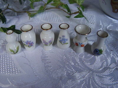 Set Of 6 Miniature Vases
