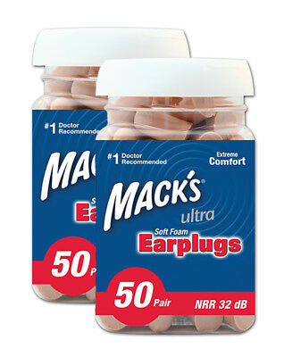 Macks Ultra Soft Foam Ear Plugs 50 Pair Jar Two Pack 100 Pairs