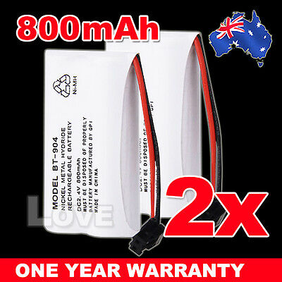 OZ J Cordless Phone Battery 2x For Uniden BT-904 BT-904S BT802 2.4V 800MAH Ni-MH