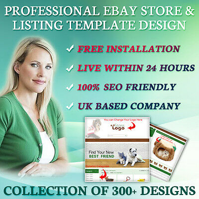 Awesome eBay Store HTML, Listing Auction Mobile Responsive Templates for Pets