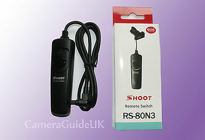 Camera Shutter Releases Remote Control Cable RS-80N3 Canon EOS 5D 6D, 7D,