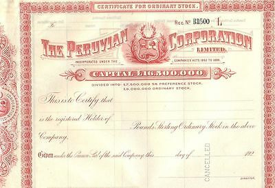 Peru Peruvian 1862 1886 UK Capital £ 16,500,000 Bond Loan