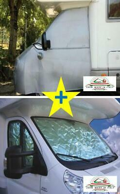 Thermal external+int blinds windscreen cover Motorhome Fiat Ducato 2006-2014