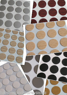 20 x Self Adhesive Stick on Furniture Sticker Screw Hole Covers Caps 13,20& 25mm