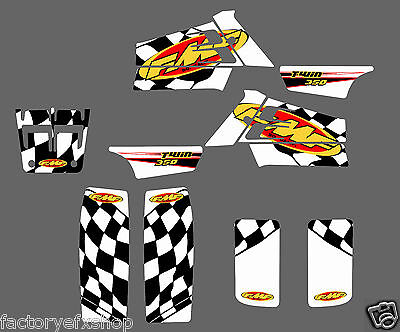 Yamaha Banshee FMF Graphics Kit Fenders Plastics Decals Stickers 350 ATV White